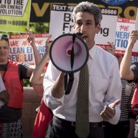 Daniel Biss Climate Protest Chicago IL